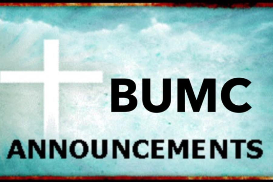 BUMC Announcements Aug.13- 19